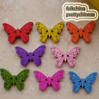 Mixed New Butterfly 22mm Wood Buttons Sewing Scrapbooking Craft NCB035