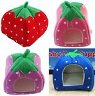 3 Sizes Hotsale Cute Soft Strawberry Pet/Cat/Dog Kennel Bed House With Warm Mat
