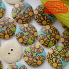 SunFlower 23mm Wood Buttons Sewing Scarpbooking Craft MW010