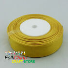Gold Organza Ribbons 50Yds/Roll Sew 10mm,12mm,15mm,18mm,24mm,38mm,50mm #87