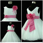 HP668 Pink Princess Wedding Party Flower Girls Dress Size 1,2,3,4,5,6,7,8,10,12Y