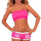 Versatile Sexy Hot Mini Stretch Seamless Reinforced Neon Color Tube Top Shirt