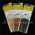 Paint Burshes Artist Set Metal Head Art Tools Different Colours Brand New
