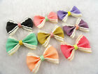 80/240pc satin ribbon bow sewing/wedding/appliques pick color