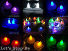 24 LED Floating Flickering Tea Candle Waterproof Wedding Party Floral Decoration