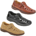 GORDINI MENS LEATHER FULL SANDALS SUMMER SHOES CLOSED TOE SANDAL TOUCH FASTENING