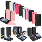 Purple Black Pink White Flip Leather Case Color Cover Pouch For iPhone 4 4S 4GS