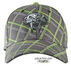 Arctic Cat 2013 Team Arctic Lime Plaid Cap Hat - Gray - Adult Men's - 5233-12_