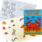 SEA LIFE 36 PAGE A6 ACTIVITY COLOUR STICKER BOOK CHILDREN PARTY BAG FAVOURS
