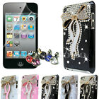 FOR APPLE iPOD TOUCH 4 CRYSTAL 3D LUXURY DIAMOND CASE COVER + SCREEN PROTECTOR
