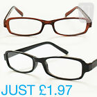 NEW RIMMED READERS READING GLASSES BLACK & BROWN - VARIOUS STRENGTHS +1.5 to +4