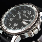 New ROYALE INFANTRY Mens DATE&DAY Quartz Analog Army Watch Stainless Steel GIFT