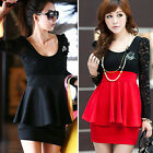 Women Hot Sexy Black Red S M L Lace Mini Clubbing Cocktail Party Dress Skirt Z