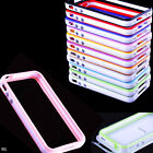 1pcs TPU Bumper PVC Silicone Hard Case Skin with Side Button for iPhone4 4S 4G