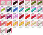 "(z) 7/8"" (22mm) wide Shiny Flat Square Sequin Lace Edge Belt Trim Ribbon Yardage"