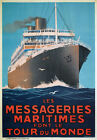 TX210 Vintage Les Messageries Maritimes Shipping Travel Poster Re-Print A2/A3