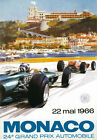 AV94 Vintage 1966 24th Monaco Grand Prix Motor Racing Poster Re-print A3