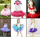 Baby Girl Kids T-shirt Top+Tutu Pageant Party Dress Skirt Clothing Outfit Set