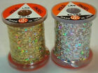 UTC HOLOGRAPHIC TINSEL Silver Gold / Sm Med Lrg -- Fly Tying  Hair Extentions