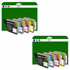2 Full Sets of Compatible Printer Ink Cartridges for the Brother LC980 Range