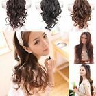 Stylish Women Girl's Party Fancy Dress Cosplay Long Wavy Curly Hair Wig Half Cap