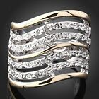fashion Austrian Ladies elements Crystals set 18K White Gold GP fashion Rings