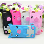 Cute 3D Crown Pig Soft Silicone Skin Case Cover For Apple Iphone 5 5G Colorful