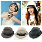 Fashion Summer Strawhat Beach Cap Straw Hat Fedora Trilby Gangster Panama Hat
