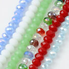 Crystal Glass Facet Rondelle Loose Beads Solid Color For Bracelet Necklace DIY