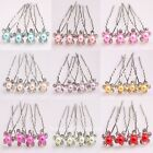 10pcs Clear Crystal Pearl Flower Hairpin Bridal Wedding Hair Accessory Hair Pin