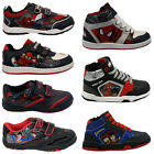 **BOYS INFANT AMAZING SPIDERMAN SCHOOL FASHION TRAINERS VELCRO KIDS SHOES NEW