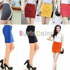 Women Candy Color Lady Stretch Fitted Seamless Slim Tight Shorts Mini Skirt