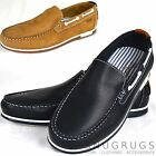 MENS WRANGLER LEATHER BOAT SHOES LOAFERS QUINN in NAVY& TAN sizes 7 8 9 10 11 12