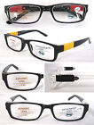 (R327H) Plastic Frame Reading Glasses with H1 Hard Case/Spring Loaded Arms