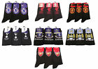 Official Kids Youths Football Club Socks, 3 Pairs, Novelty Black Ankle Socks