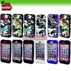 Camo Style Hard Protection Soft Rubber Matte Case Cover for iPhone 5 5G IP5 6th