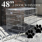 PREMIUM WHITE FOLDABLE SUITCASE STYLE DOG CAGE PET CRATE KENNEL