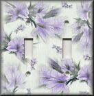 Light Switch Plate Cover - Floral Home Decor - Soft Lavender Flowers