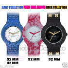Orologio Hip Hop Rock Pizzo mon amour Jeans Collection gomma silicone colorati