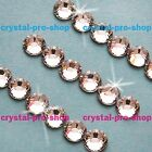 AUTHENTIC Swarovski Crystal Clear (No-Hotfix) Round Rhinestones Glass Jewelry