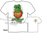 Ed Roth Signature Rat Fink T Shirt Big Daddy Clothing Tee Sz M L XL 2XL 3XL
