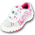 Girls SIZE 4 - 10 White Silver PEPPA PIG Velcro Trainers Shoes NEW ALEXANDRA