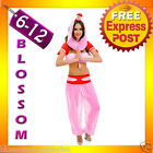 J72 Ladies Bottle Genie Fancy Dress Costume Outfit Dream Jeannie Harem Pants Hat