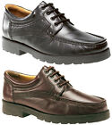 Mens New Black / Brown Roamers Softie Leather Comfortable Formal Shoes 6 - 12