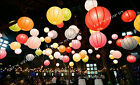 "6X 12"" Color Chinese paper lanterns+ LED Light Wedding Party Floral decoration"