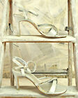 "Silver Sandals 3.5"" stiletto Heels Rhinestone straps dressy posh shoes 6 7 8"