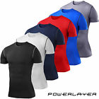 Mens Boys Compression Armour Base Layer Short Sleeve Thermal Under Top Shirt New