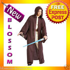 C340 Mens Star Wars Deluxe Jedi Robe Adult Halloween Fancy Dress Costume