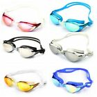 UNISEX ADULT ANTI FOGGING SWIMMING GOGGLES ADJUSTABLE SWIM GLASSES 6 COLOURS