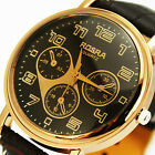 HOT SELL! New Casual Men  leather fashion large Quartz Analog Wrist watches,B1